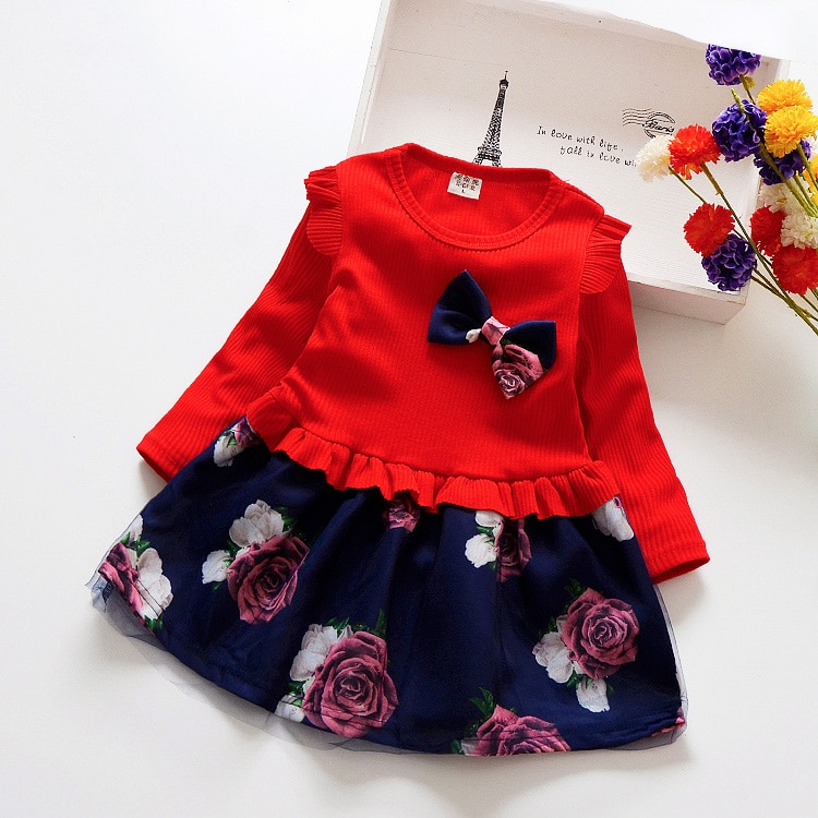 Girls Dress Long Sleeve Sequined Princess Dress For Casual  Robe Fille Ceremony Dress Kids Winter Dress 8M-6T