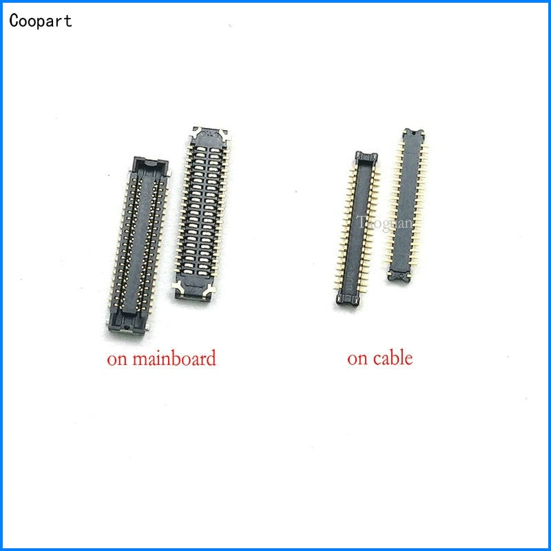 2 teile/los Coopart Neue 40PIN LCD display FPC Stecker Port Stecker auf Mainboard/kabel für Xiaomi Redmi Pro/redmi 8 8A top qualität