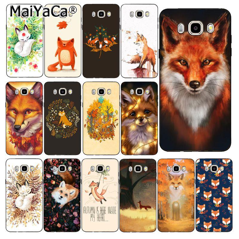 MaiYaCa Animal salvaje zorro en el otoño cubierta de la caja del teléfono para Samsung Galaxy J7 J6 J8 J4 J4Plus J7 DUO J7NEO J2 J7 primer
