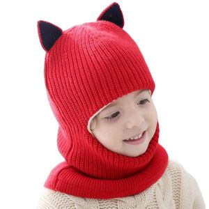Doitbest Winter hat for kids beanies Plus fur boys Beanie Child knit hats Protect face neck kid girls Earflap Caps 2-6 years old