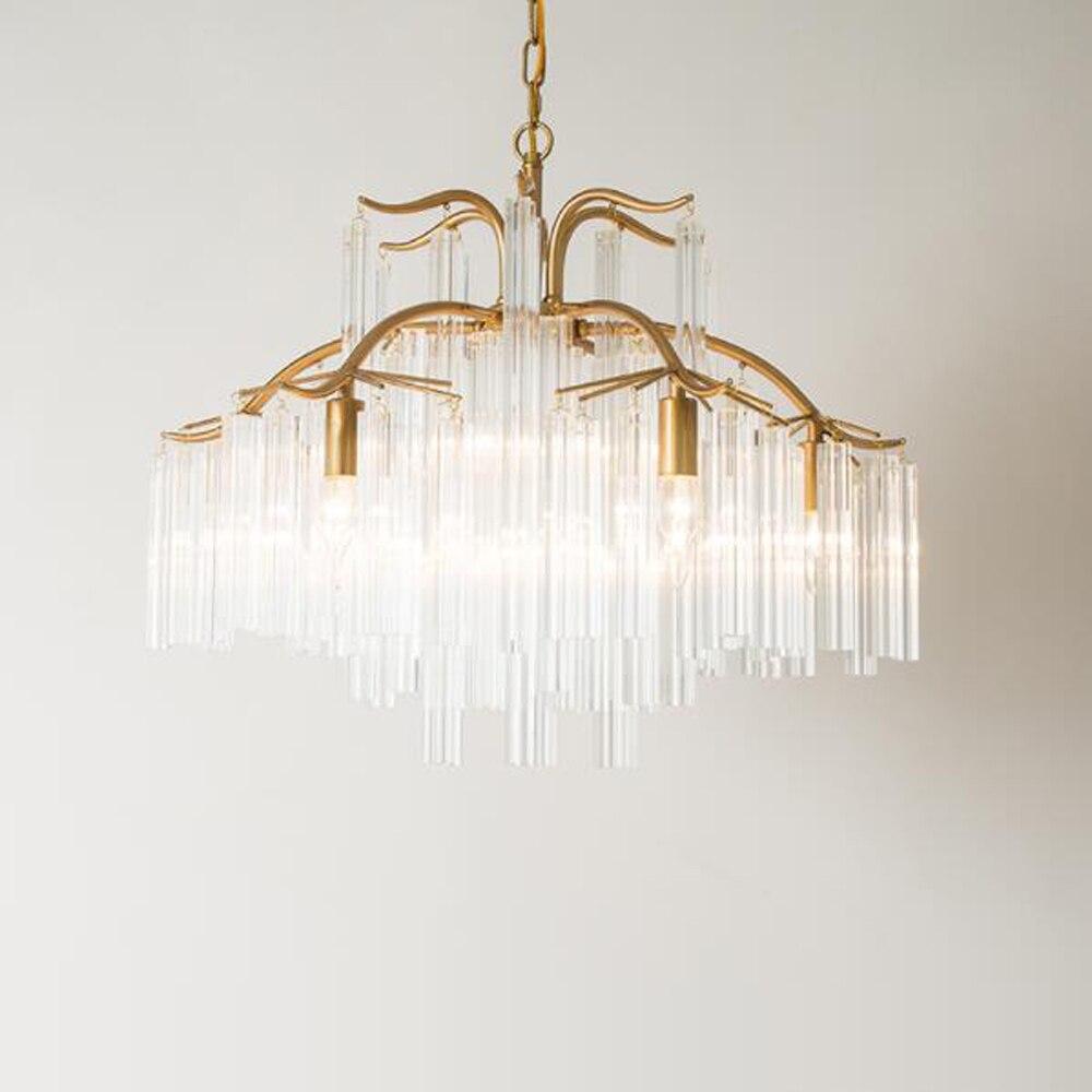 الفاخرة كريستال ضوء الثريا مصباح لغرفة المعيشة AC110V 220 فولت بريق الحديثة الذهب ديكور غرفة نوم