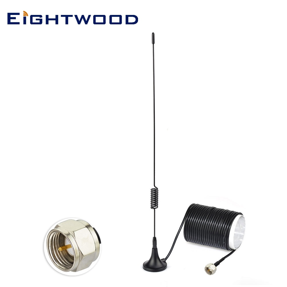 Eightwood antena FM F para Denon pionero Onkyo Yamaha modelo de Sherwood Bose Sistema de música interior Digital HD Radio FM