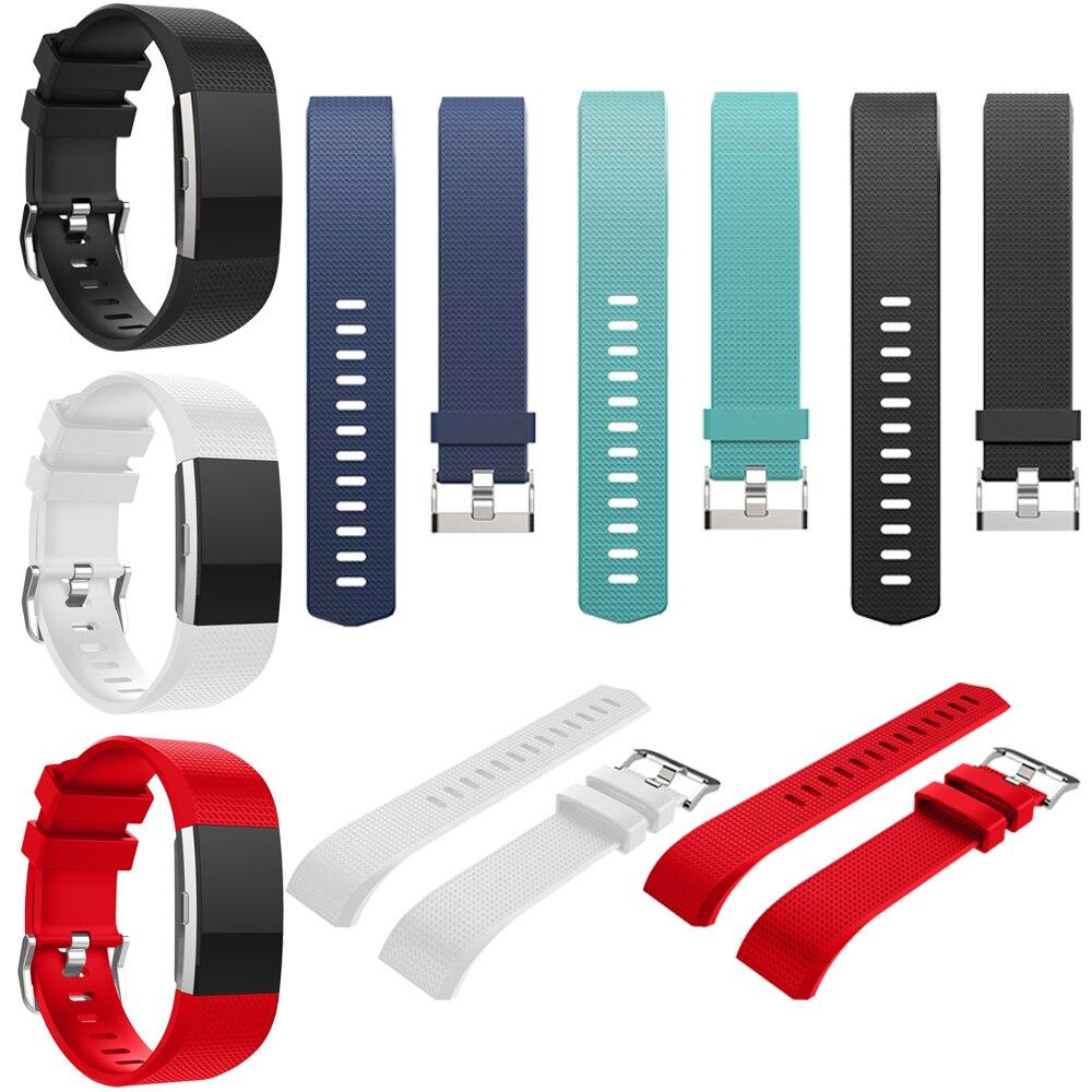 Gosear de silicona de correa de reloj cinta/correa de muñeca para Fitbit carga 2 Charge2 pulsera correa de accesorios