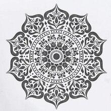 30*30cm Große Mandala Totem Rad DIY Schichtung Schablonen Wand Malerei Sammelalbum Färbung Präge Album Dekorative Vorlage
