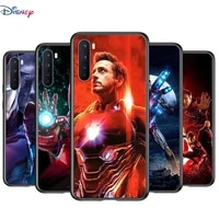 soft tpu cover marvel iron man for oneplus nord n100 n10 8t 8 7t 7 6t 6 5t pro black phone case