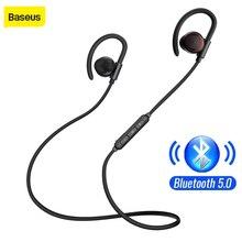Baseus S17 سماعة لاسلكية تعمل بالبلوتوث سماعة V5.0 الرياضة سماعة رأس مزودة بميكروفون ستيريو المغناطيسي باس إلغاء الضوضاء سماعات لاسلكية