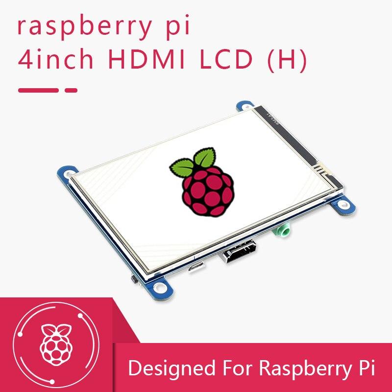 شاشة Waveshare 4/4.3 بوصة Raspberry Pi تعمل باللمس TFT LCD شاشة مصممة لـ Raspberry Pi 4 3 Zero