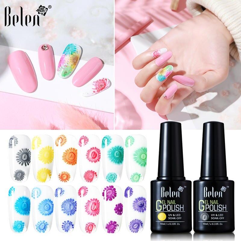 Belen 10ML Frost Flower Gel Polish Soak Off UV LED Nail Varnish Gel Polish Salon Manicure 10ML UV Gel Nail Design Gel Varnish