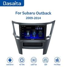Dasaita voiture 1 din GPS Radio Android 10.0 TDA7850 pour Subaru héritage Outback 2009 2010 2011 2012 2013 2014 USB MP3 9