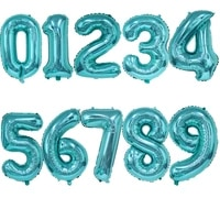 32inch new tiffany blue number balloons air helium balloons for baby shower happy birthday party decoratoin number globos