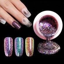 UR cukier 5ml lakier żelowy kameleon świecący Glitter usuwanie żelu UV lakier lakier do paznokci emalia