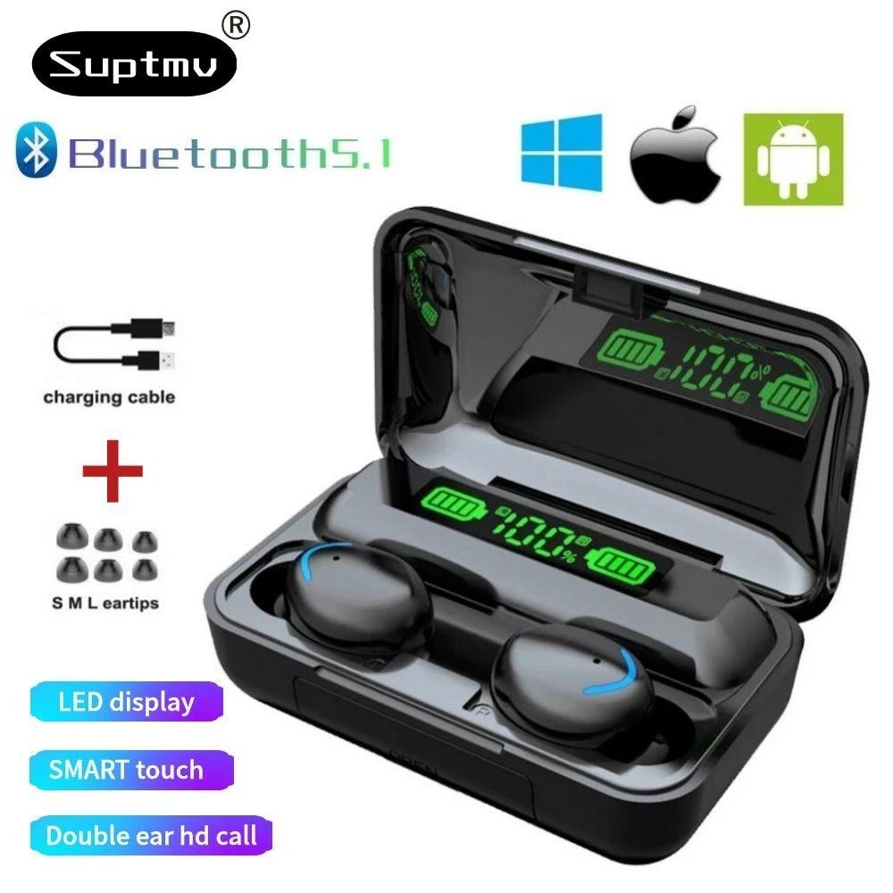 Wireless Headphone TWS Bluetooth 5.0 Sports Waterproof Earphones Smart Digital Display 9DStereo  Ear