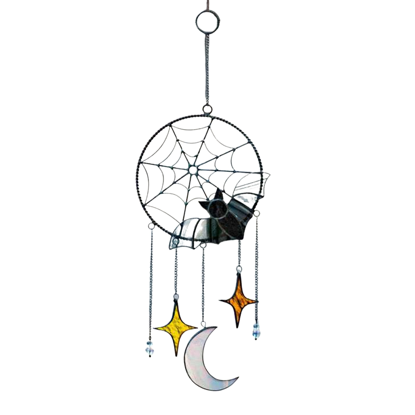 Halloween Pendant Gothic Style Exquisite Bat Moon Stars Window Hanging Ornament Halloween Home Decoration Props Festival Gift