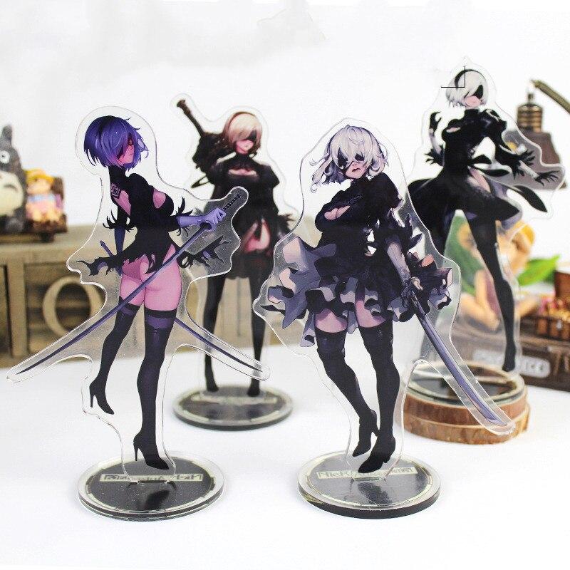 NieR juego Automata, soporte acrílico, modelo de juguetes Chica de Anime figura 2B, juegos de decoración, figura de acción, juguetes coleccionables para regalos