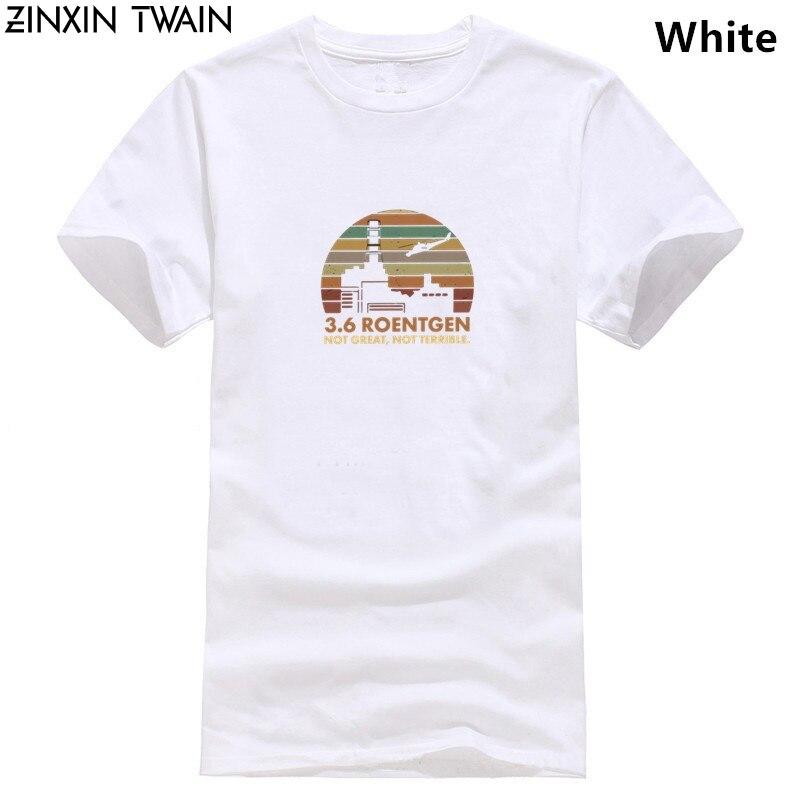 Camisetas de serie de TV para hombre, camiseta de Guerra de las galaxias, camisetas de Roentgen no grande, camiseta no horrible, camiseta de radiación de chernón, película 3,6