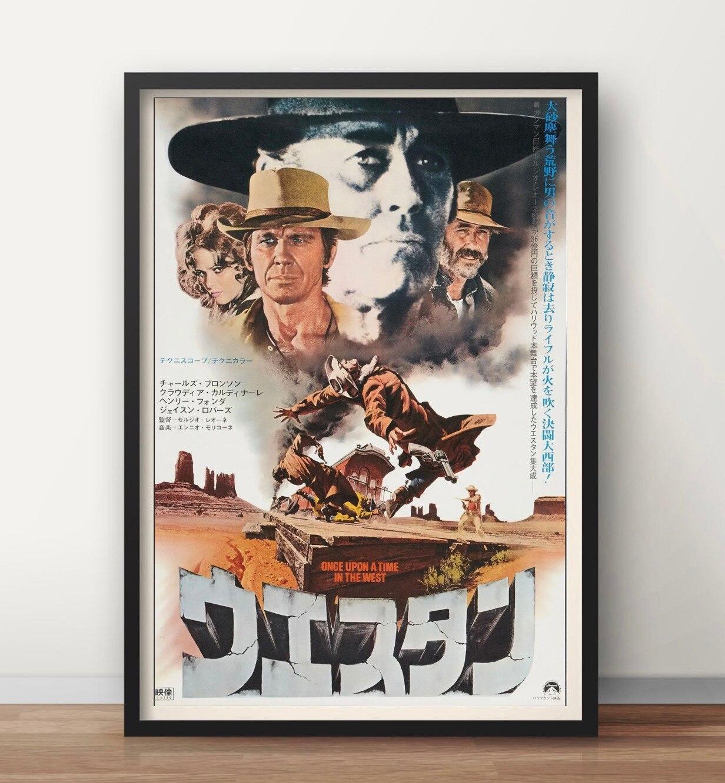 Einmal Auf eine Zeit in die West Bernardo Bertolucci Retro Vintage Film Film Dekorative Poster Wand Leinwand Aufkleber Wohnkultur