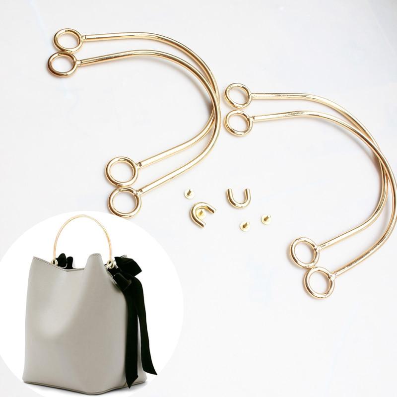 Durable Metal Solid Bag Handle Metal Handle Strap Replacement Handbag Luggage DIY Fashion Tote Bags
