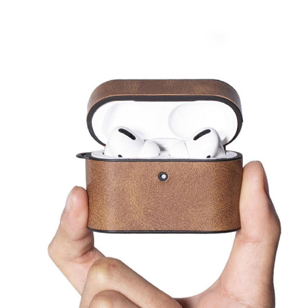 Для Airpods Pro чехол Ультратонкий противоударный чехол для зарядки мягкий кожаный Простой чехол для наушников чехол