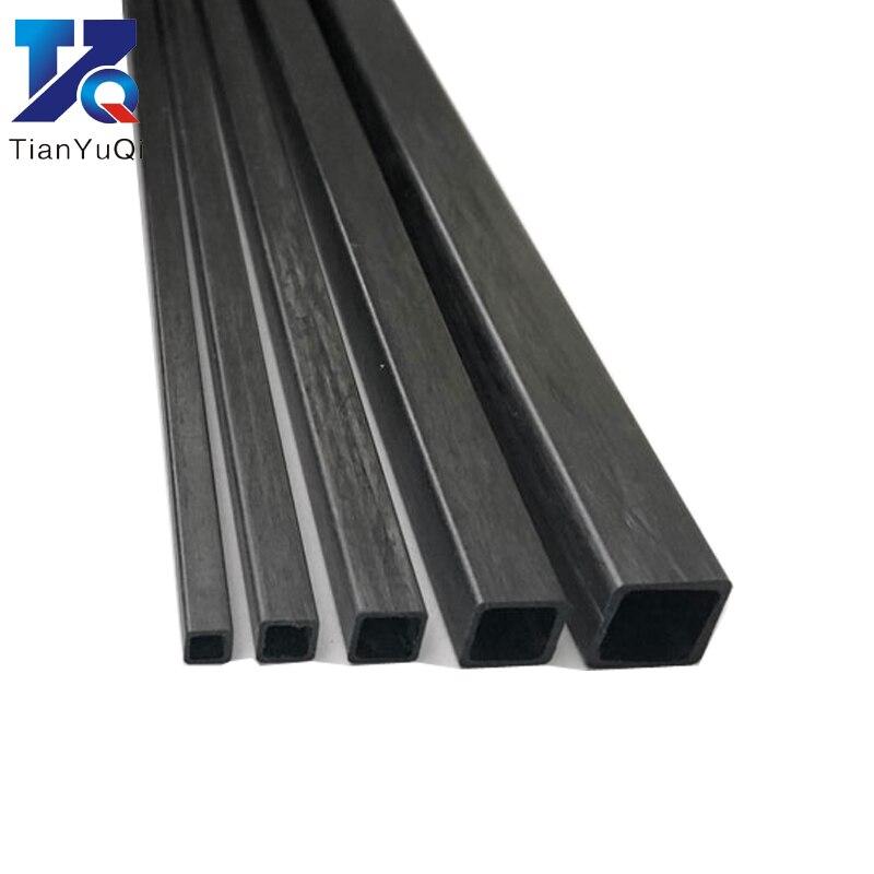 4 Uds tubo cuadrado de fibra de carbono 3mm 4mm 5mm 6mm 8mm 10mm (longitud 500mm) Tubo Cuadrado/varilla cuadrada de fibra de carbono/tubo cuadrado de carbono