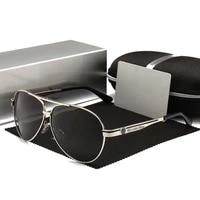 luxury sunglasses polarized men women uv400 high quality driving pilot sun glasses retro fishing