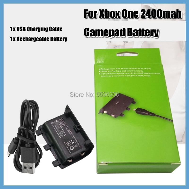 2400mAh Pack de batería recargable USB con Cable USB para XBOX un...