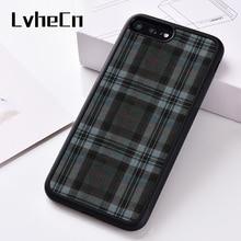 Lvihn سيليكون غطاء إطار هاتف محمول آيفون 6 6S 7 8 Plus 5 5s SE X XS XR 11 برو ماكس الفضة برايد الترتان Gaelic تنورة الاسكتلندي