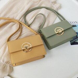 Bolsos Mujer Retro Square Crossbody Bag Women's Designer Handbag Shoulder Messenger New 2020 High Quality Pu Leather Pocket