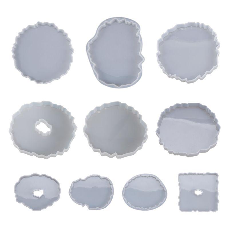 Силиконовая кристальная эпоксидная смола, форма неправильной волны Coaster мат литье формы ремесло