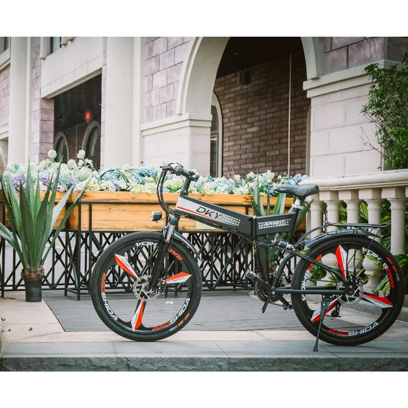 26 дюймов складной Электрический горный велосипед внедорожный вспомогательный скрытый съемный аккумулятор