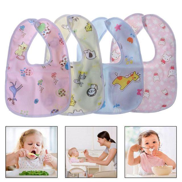 1PC Baby Bib Waterproof Cartoon Cute Buckle Bandana Burp Saliva Towel Boys Girls Feeding Apron Bib Infant Children Supplies
