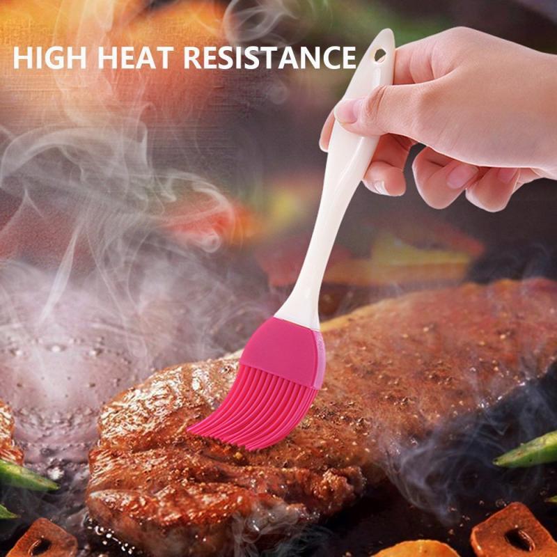 1 unidad de pincel de Gel para hornear de silicona con mango de Color aleatorio, utensilios para hornear, pastelería, aceite, barbacoa, pincel para hornear, herramienta, accesorios de cocina
