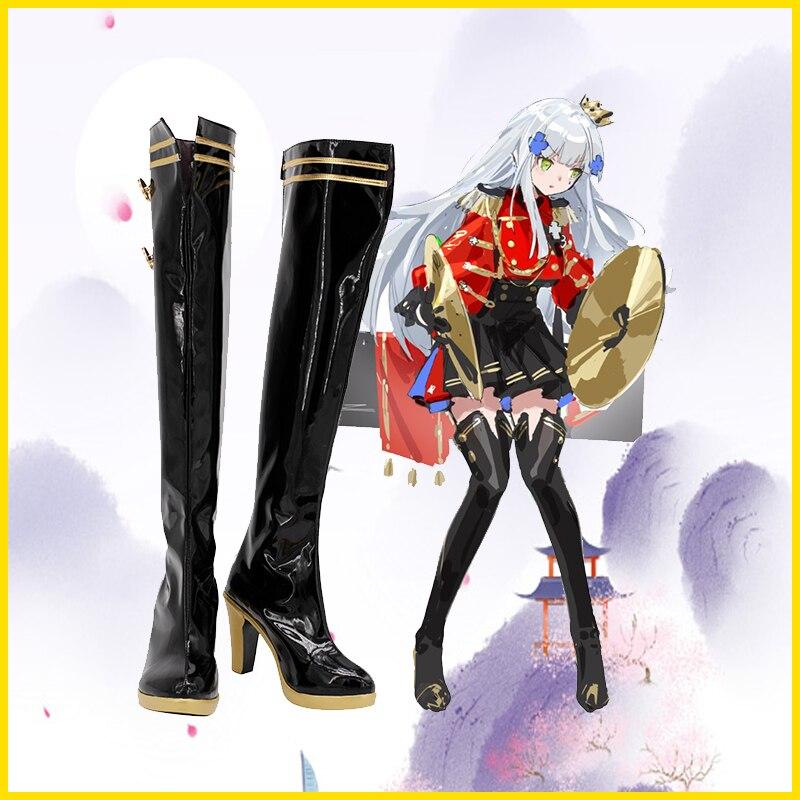 جديد للجنسين أنيمي كوس بنات فرونت لاين HK416 تأثيري ازياء أحذية أحذية هالوين عيد الميلاد حفلة حجم مخصص