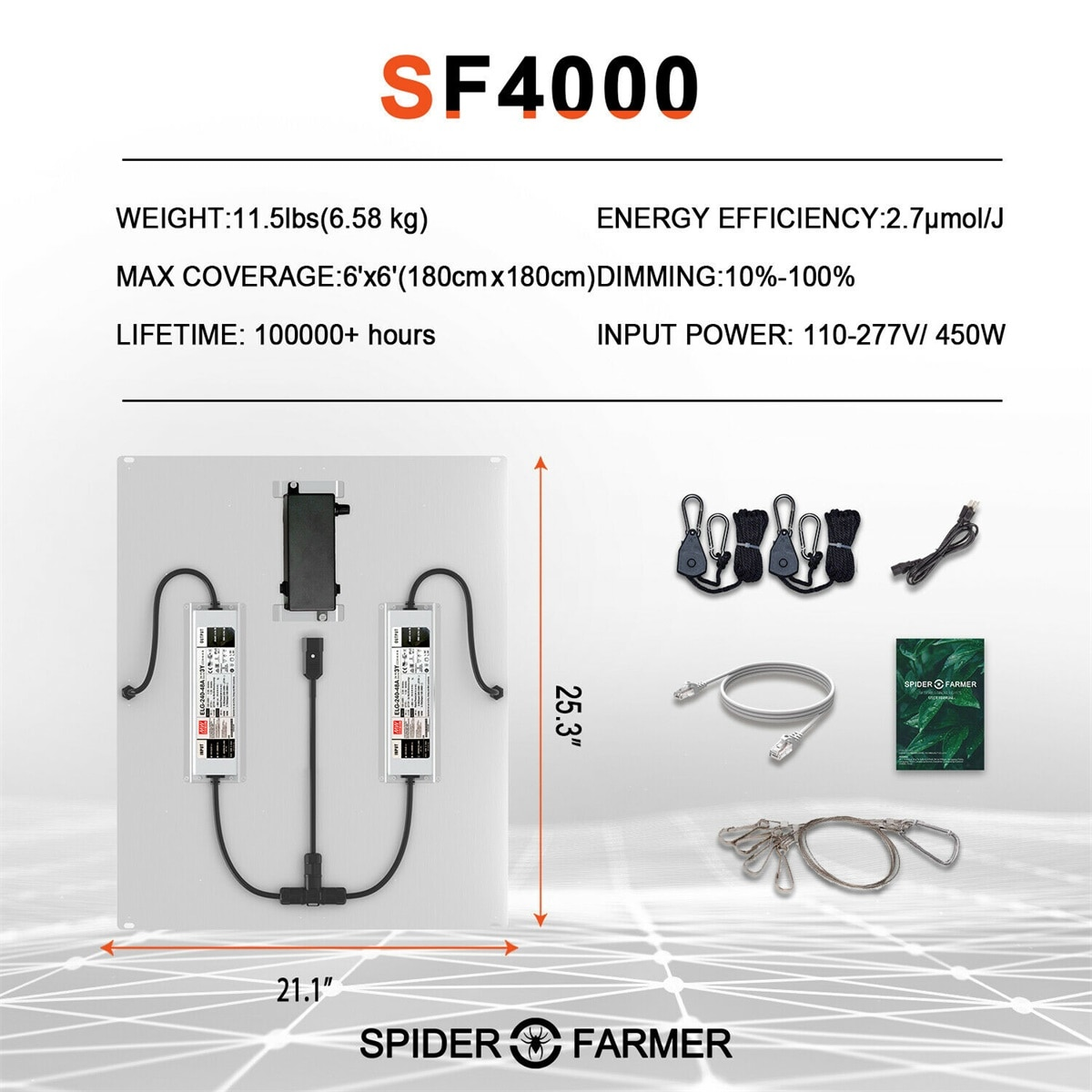 Spider Farmer SF 4000 Samsung Led LM301B  Led Grow Light Dimmable and 150x150 Reflective Aluminum Grow Tent for Indoor Plants enlarge