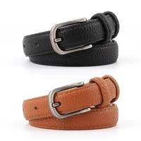 latest hot sale female fine leather belt for women waist belt 2019 designer pin metal belt silver ceinture for jeans dress