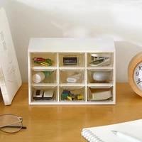 9 grids organizer jewelry box make up organizer storage plastic box desk organizer transparent container stationery s2y1