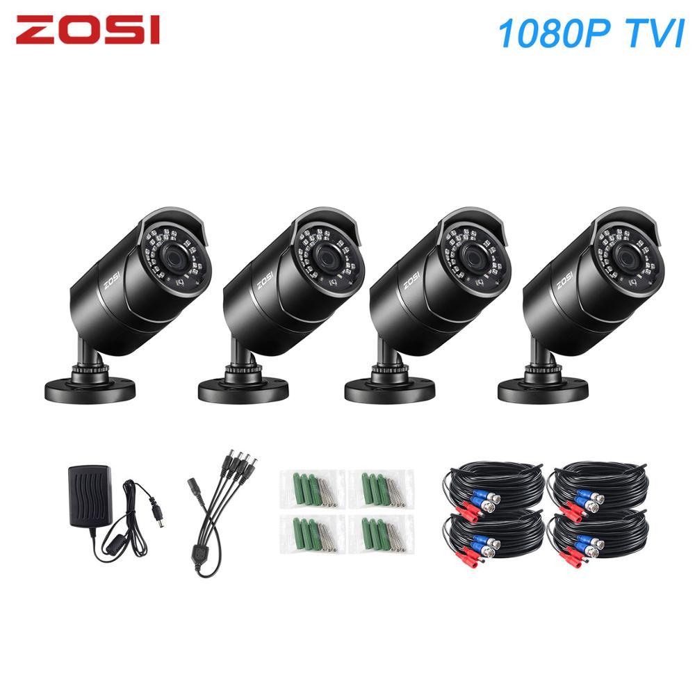 Get ZOSI 1080P TVI Bullet IR Security Cameras CCTV Camera Nightvision Waterproof IP67 Indoor Outdoor Street Camcorder for DVR Kit