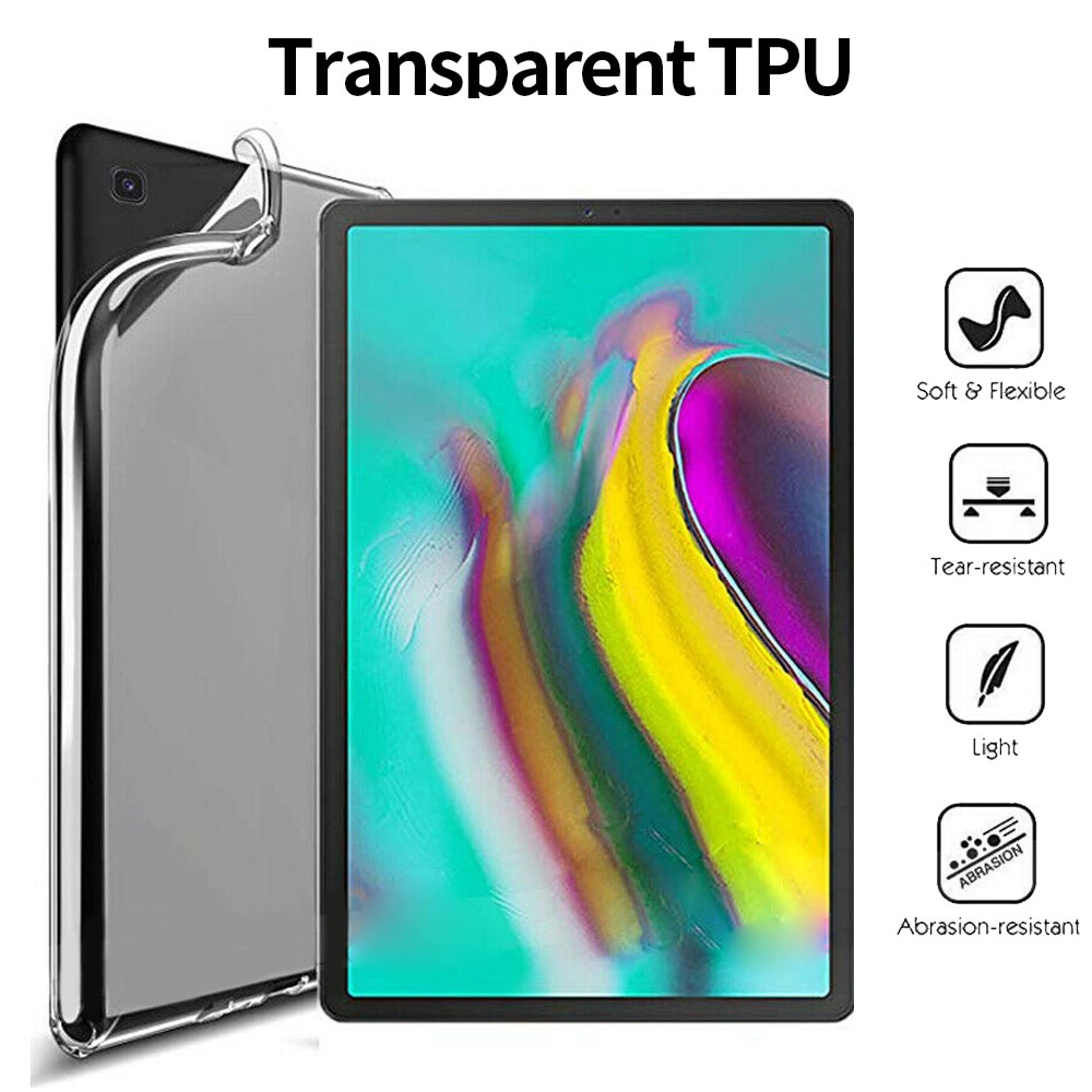 Soft Tpu Case Voor Samsung Tab Een S4 S6 S5e 8.0 8.4 10.1 10.5 Inch Transparante Tpu Beschermende Case Cover voor Samsung Tab S7 Plus