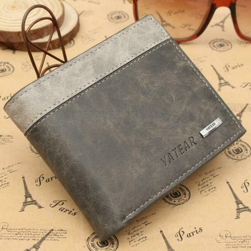 Men's Slim Leather Bifold Credit ID Card Holder Wallet Billfold Purse Clutch Fashion Wallet