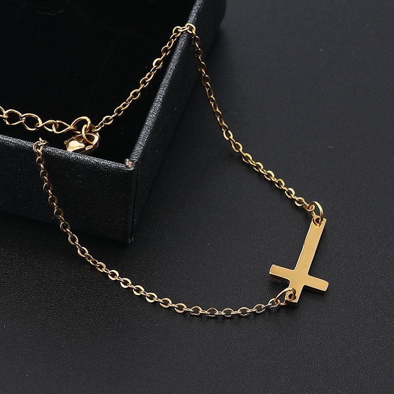 New Fashion Stainless Steel Cross Charm Bracelet Men and Women Minimalist Chain Bracelet Love Jewelry Birthday Gifts Droshipping