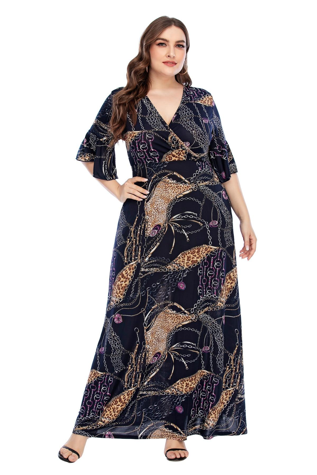 Ramadan Turkey India Muslim Dress Print Maxi Abaya Duabi Arabic Vestidos Moroccon Kaftan Islamic Clothing Jilbab Gown Robe 2021