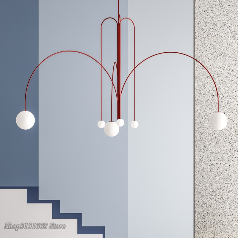 الحديثة Led الثريات الإضاءة الحديد خط ماجيك فول مصابيح معلقة الشمال غرفة المعيشة lumaria غرفة الطعام ديكور المنزل أضواء