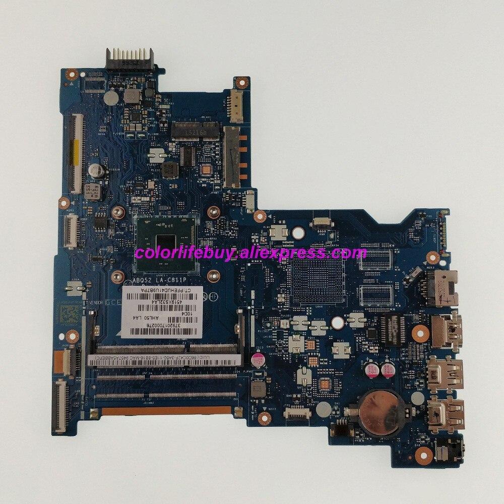 815249 601 8815249 001 la c811p uma n3700 cpu for hp notebook 15 15 ac 17z g100 series motherboard tested Genuine 816812-601 816812-501 816812-001 UMA w PenN3700 CPU ABQ52 LA-C811P Laptop Motherboard for HP Notebook 15-AC Series PC