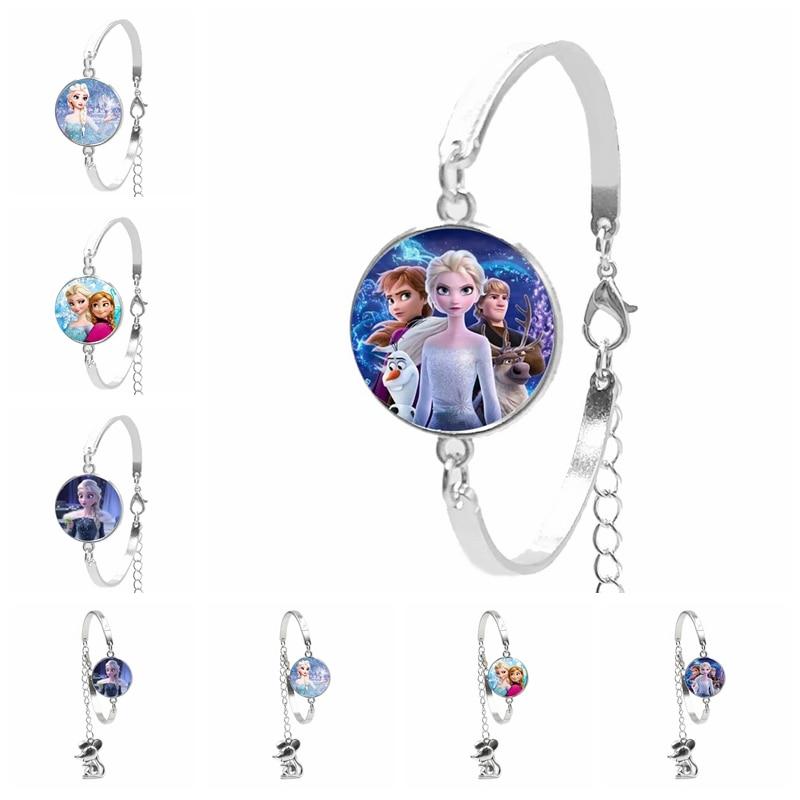 2020 New Mouse Pendant Bracelet Lady Bracelet Jewelry Princess Elsa Anna Snow Queen Bracelet Girl