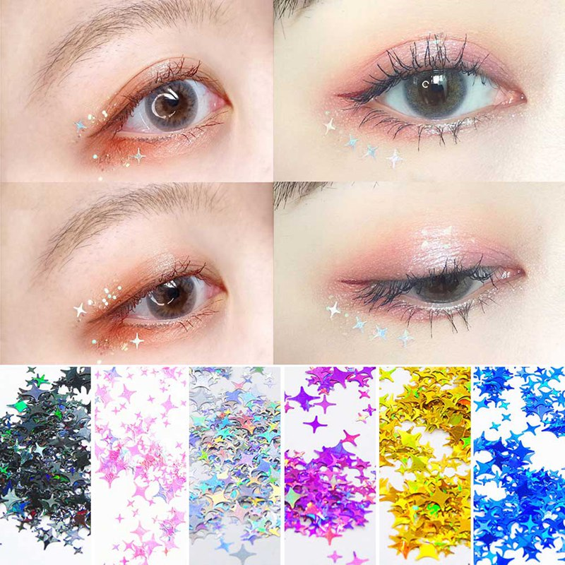 1 Bag Ultrathin Sequins Laser Star Glitter Sequins For Nail Art Decoration Body Art Painting Nail DI