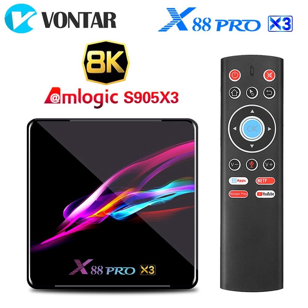 صندوق التلفزيون الذكي X88 PRO X3 ، Android 9.0 ، وحدة فك ترميز الإشارة مع 4 جيجابايت من ذاكرة الوصول العشوائي ، 64 جيجابايت ، 32 جيجابايت ، Amlogic S905X3 ، رباعي...