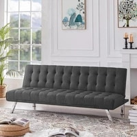 strong bearing capacity foldable convertible fabric sofa daybed for living room