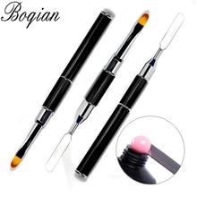 BQAN 1 шт. двухсторонняя кисть для дизайна ногтей шпатель полигелевая ручка для маникюра наконечник для наращивания акриловый строительный аксессуар полигель стержень инструмент