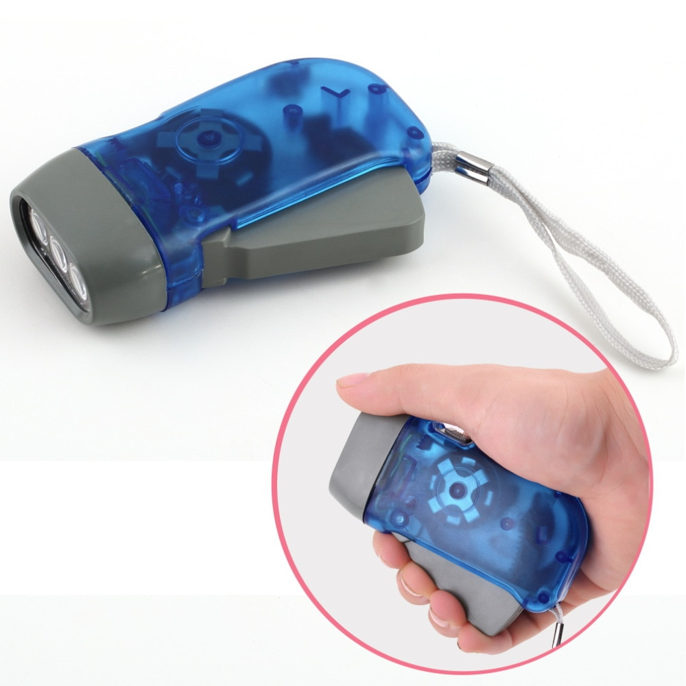 2019 3 LED Dynamo Wind Up Flashlight Hand-pressing Crank NR No Battery Torch Hot Worldwide