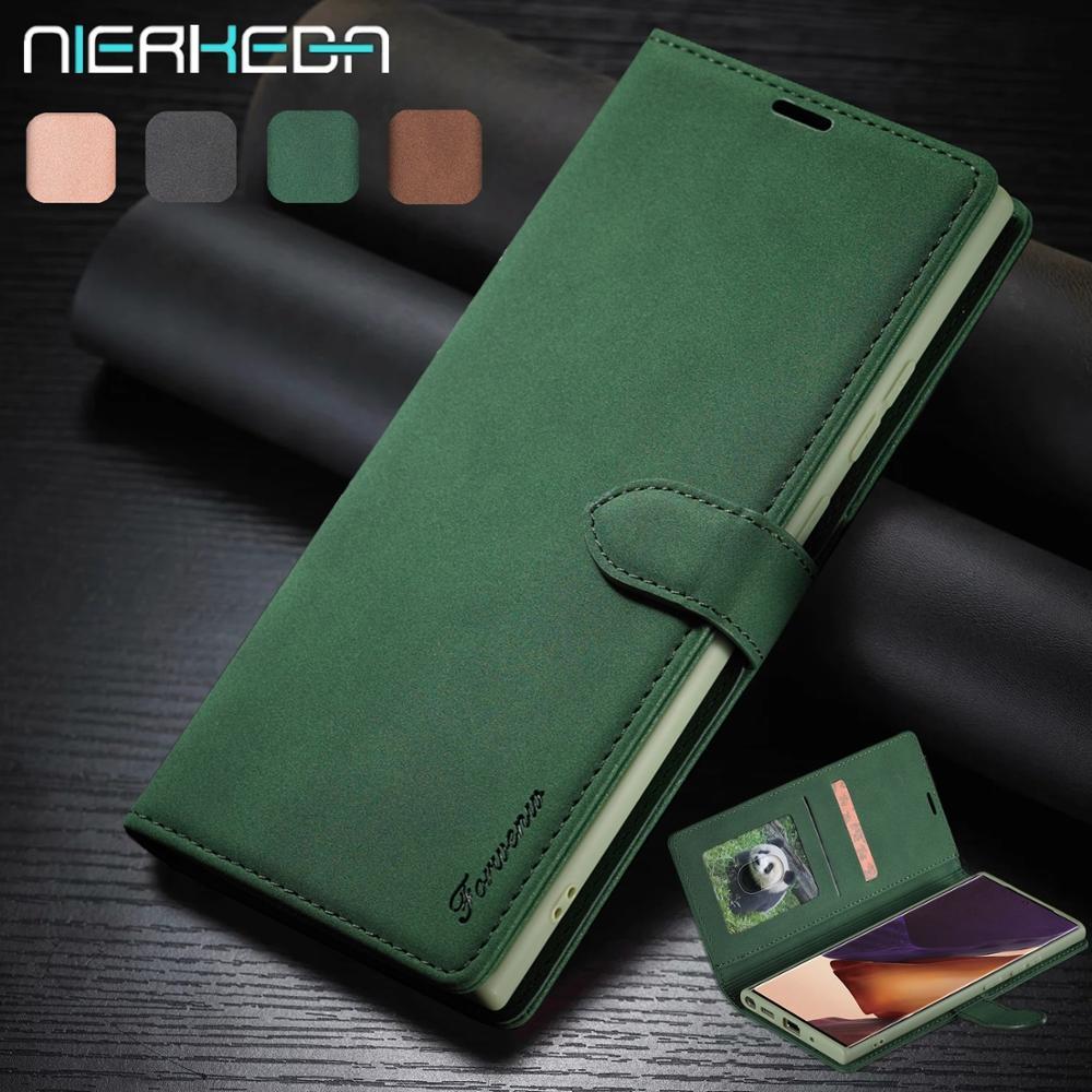 Note20 Flip Funda de cuero para Samsung Galaxy Nota 10 9 20 S20 Ultra S10 Lite S9 S8 más A01 A11 A21s A31 A41 A51 A71 cartera