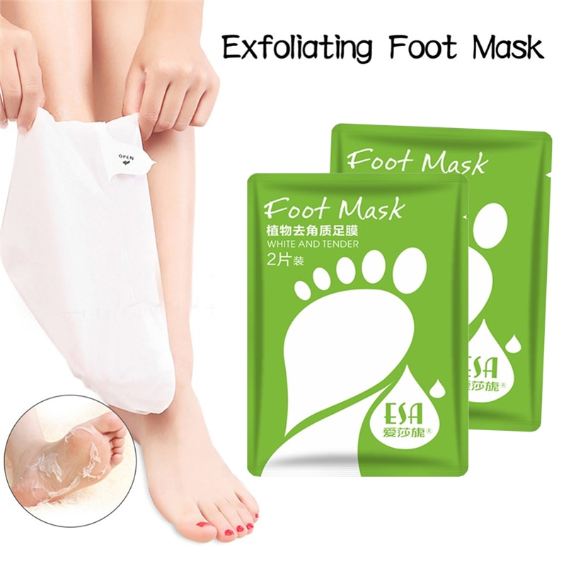 Exfoliating Foot Mask Pedicure Socks Natural Plants Exfoliation Feet Mask Remove Dead Skin Heels Foot Peeling Masks Feet Care 4 pairs exfoliating foot mask sock pedicure socks exfoliation for feet mask heels foot peeling remove dead skin mask for legs